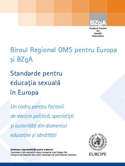 Standarde pt Educația Sexuală în Europa-1