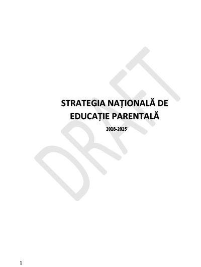 Strategia Natională de Educație Parentală 2018-2025-1